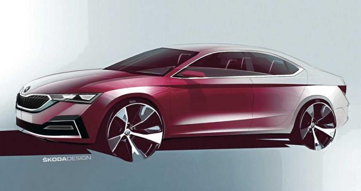 斯柯达官方正式发布全新一代明锐预告图 新车将于下月发布